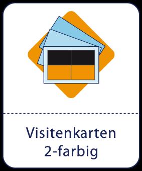 visitenkarten 2 farbig hks pantone 139 83 druckmanufaktur. Black Bedroom Furniture Sets. Home Design Ideas